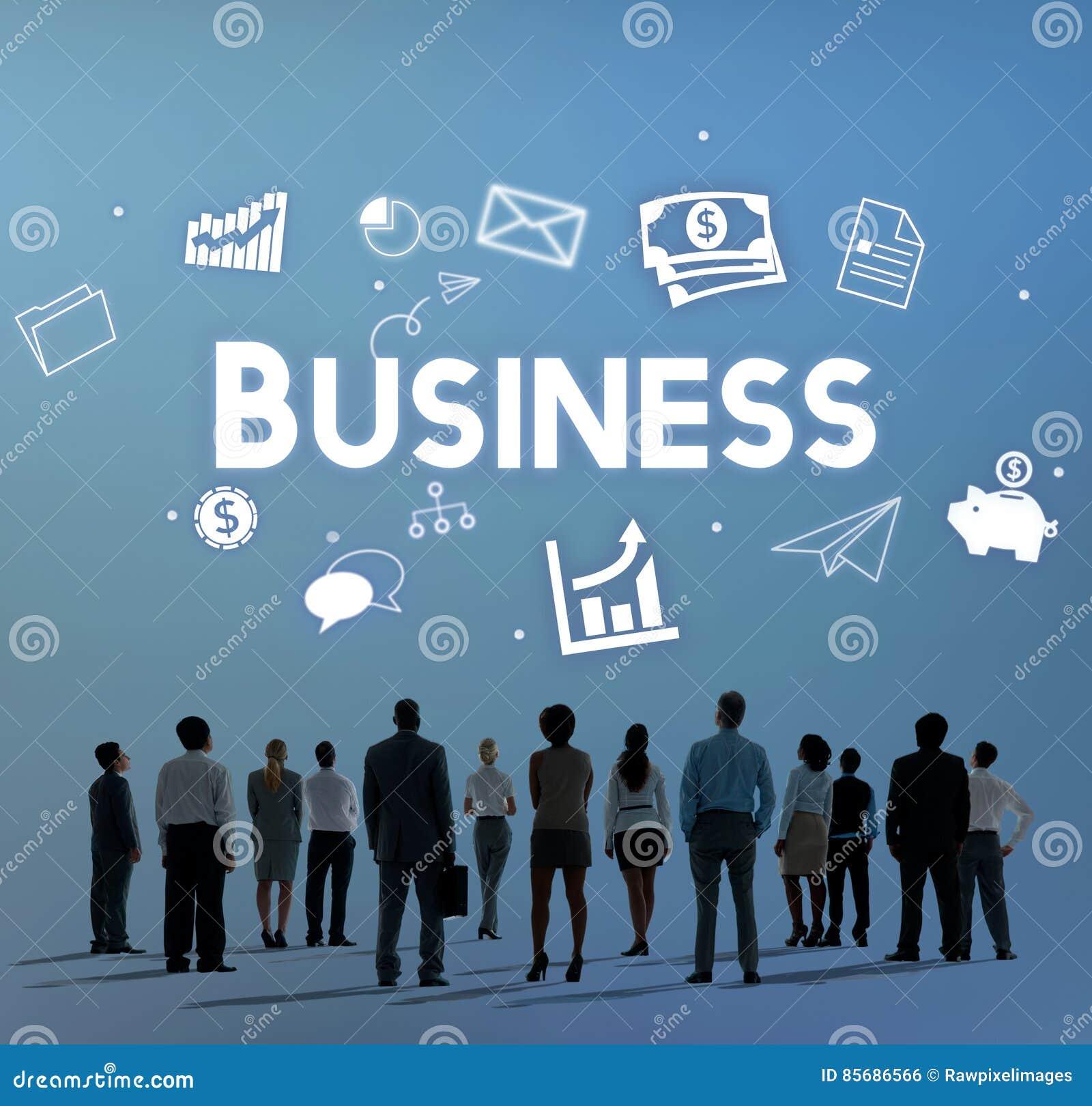 Concetto di organizzazione di visione di strategia della società di affari