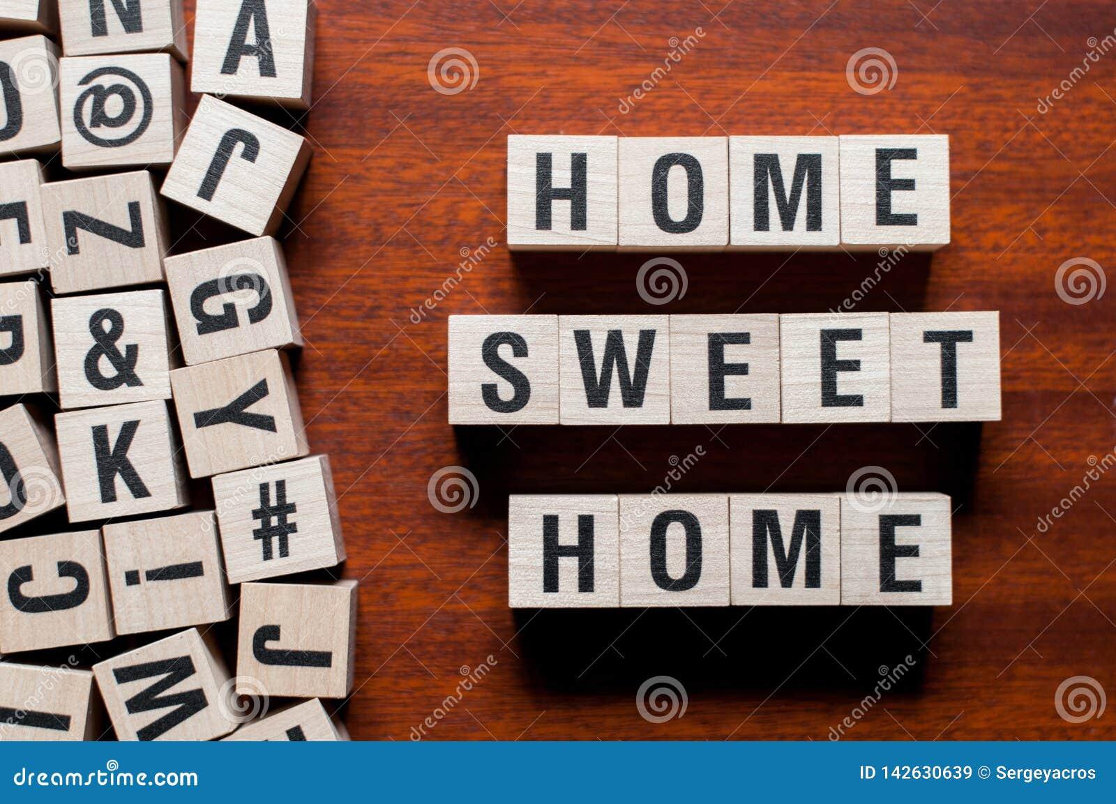 Concetto di parola della casa dolce casa