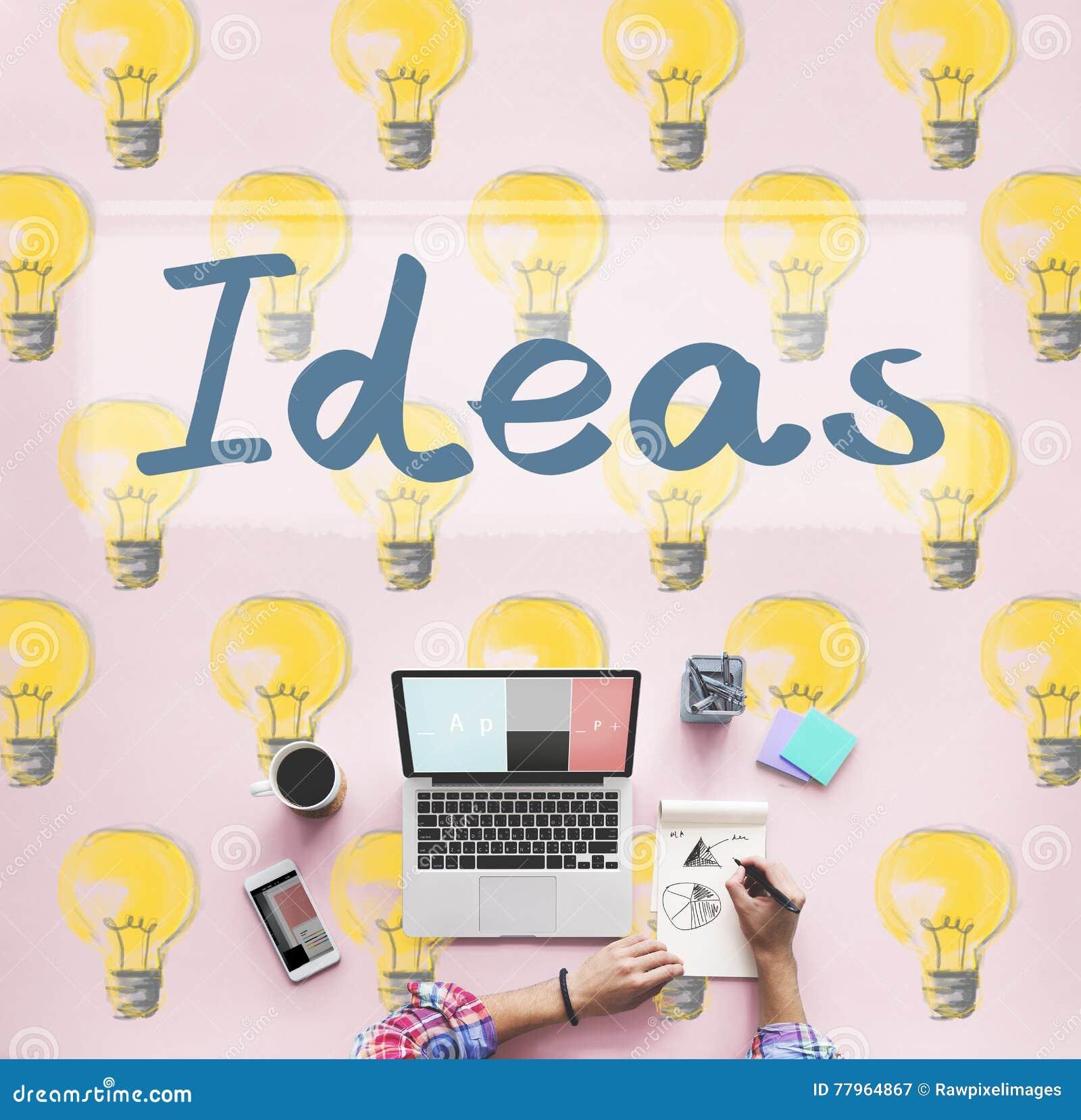 Concetto di piano di pensieri di tattiche dell innovazione di idee