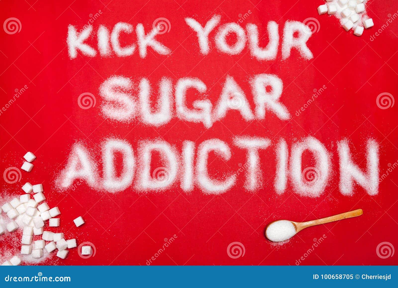Concetto di prevenzione di dipendenza dello zucchero