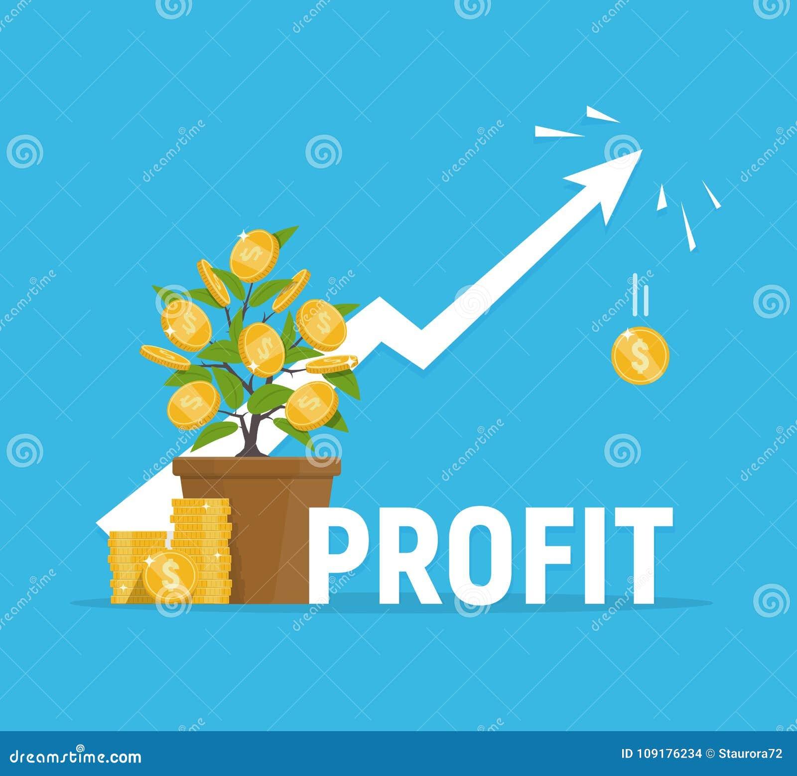 Concetto di profitto Conceptual finanziario Image Investimenti ed aumento del reddito