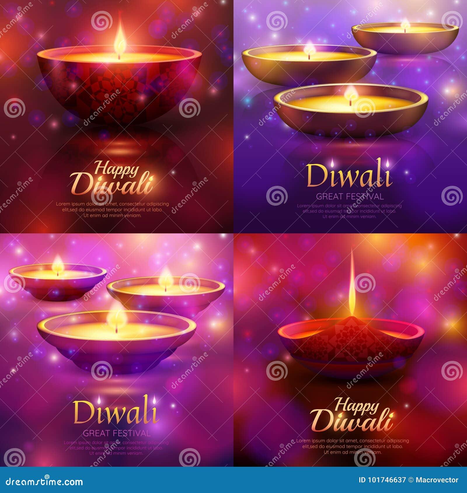 Concetto di progetto di celebrazione di Diwali