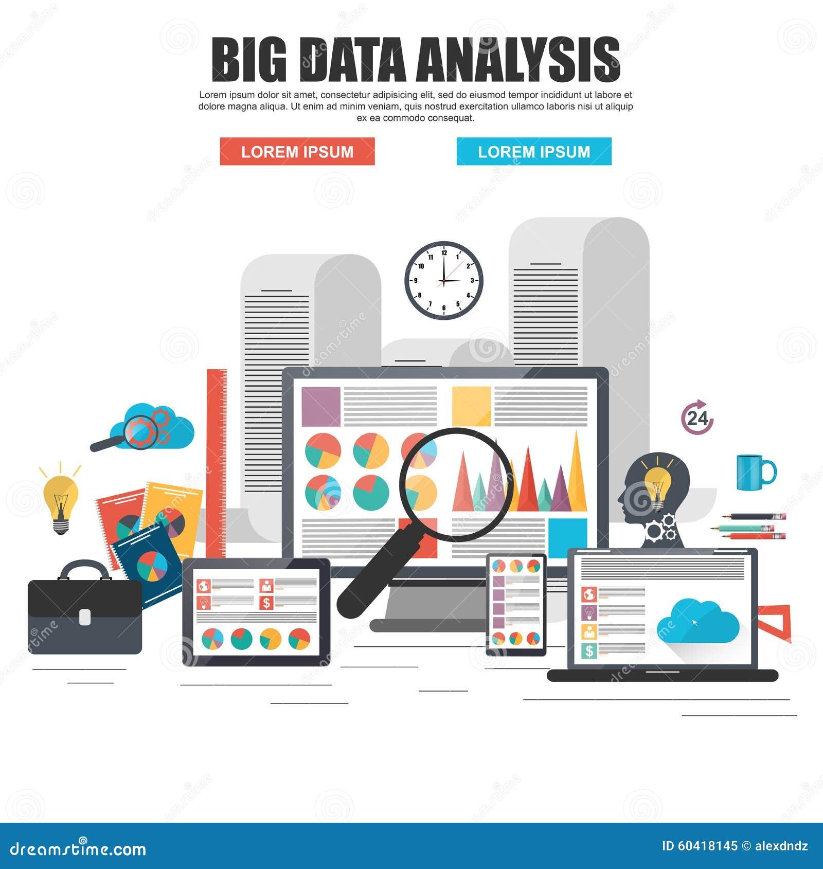 Concetto di progetto piano di grande analisi dei dati di affari