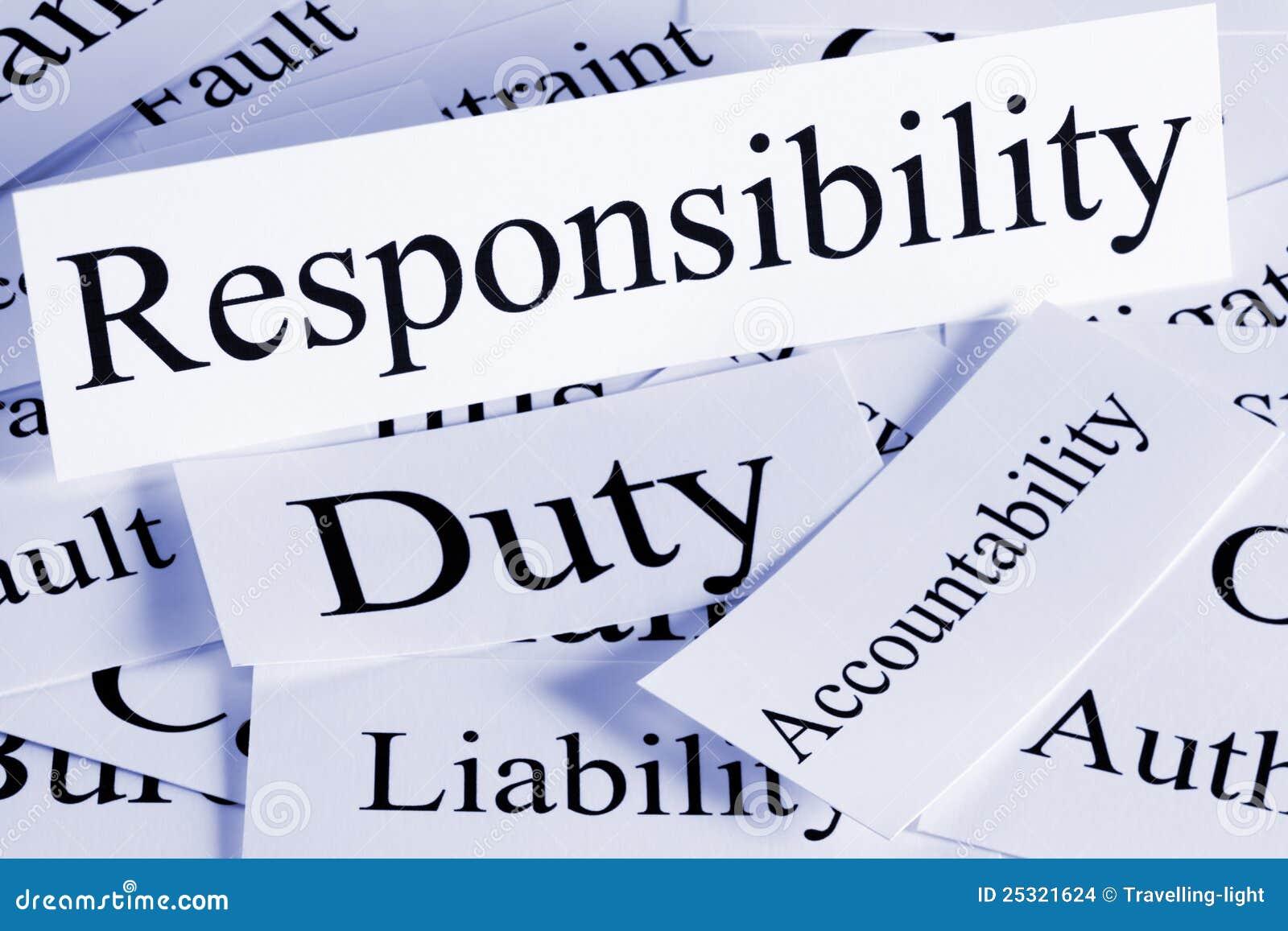 Concetto di responsabilità