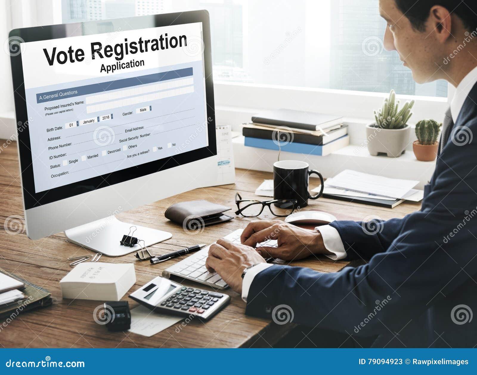 Concetto di riempimento del documento di elezione di voto