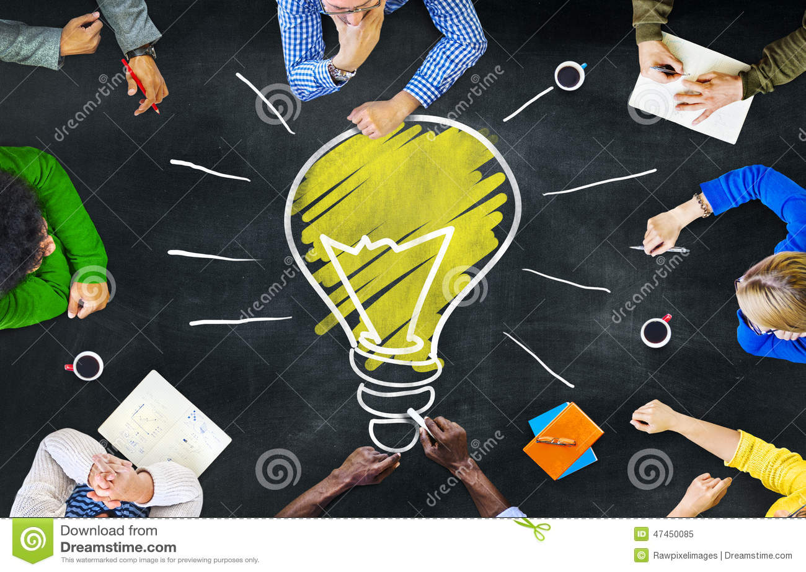 Concetto di riunione di apprendimento di intelligenza di conoscenza di pensieri di idee