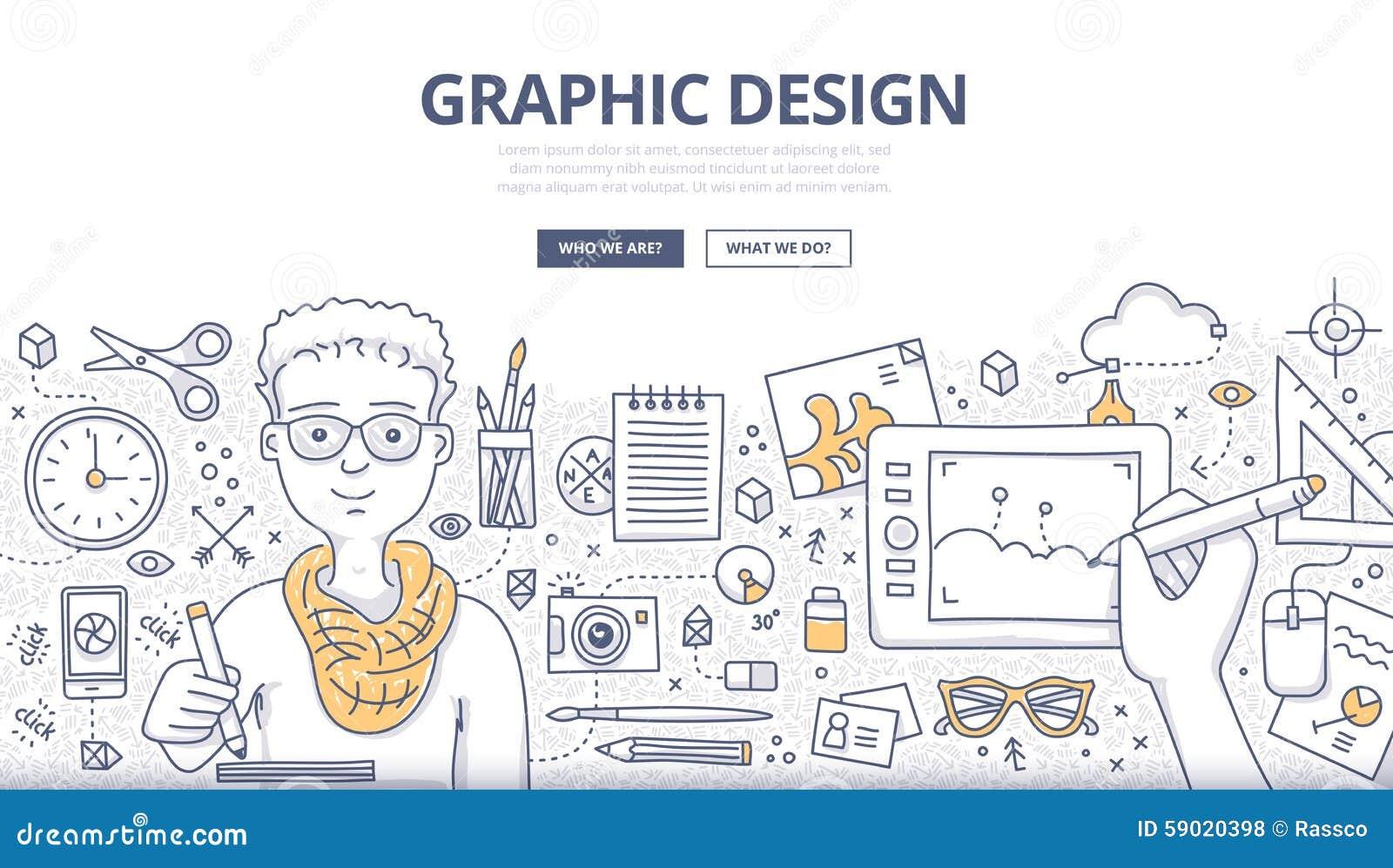 Concetto di scarabocchio di progettazione grafica