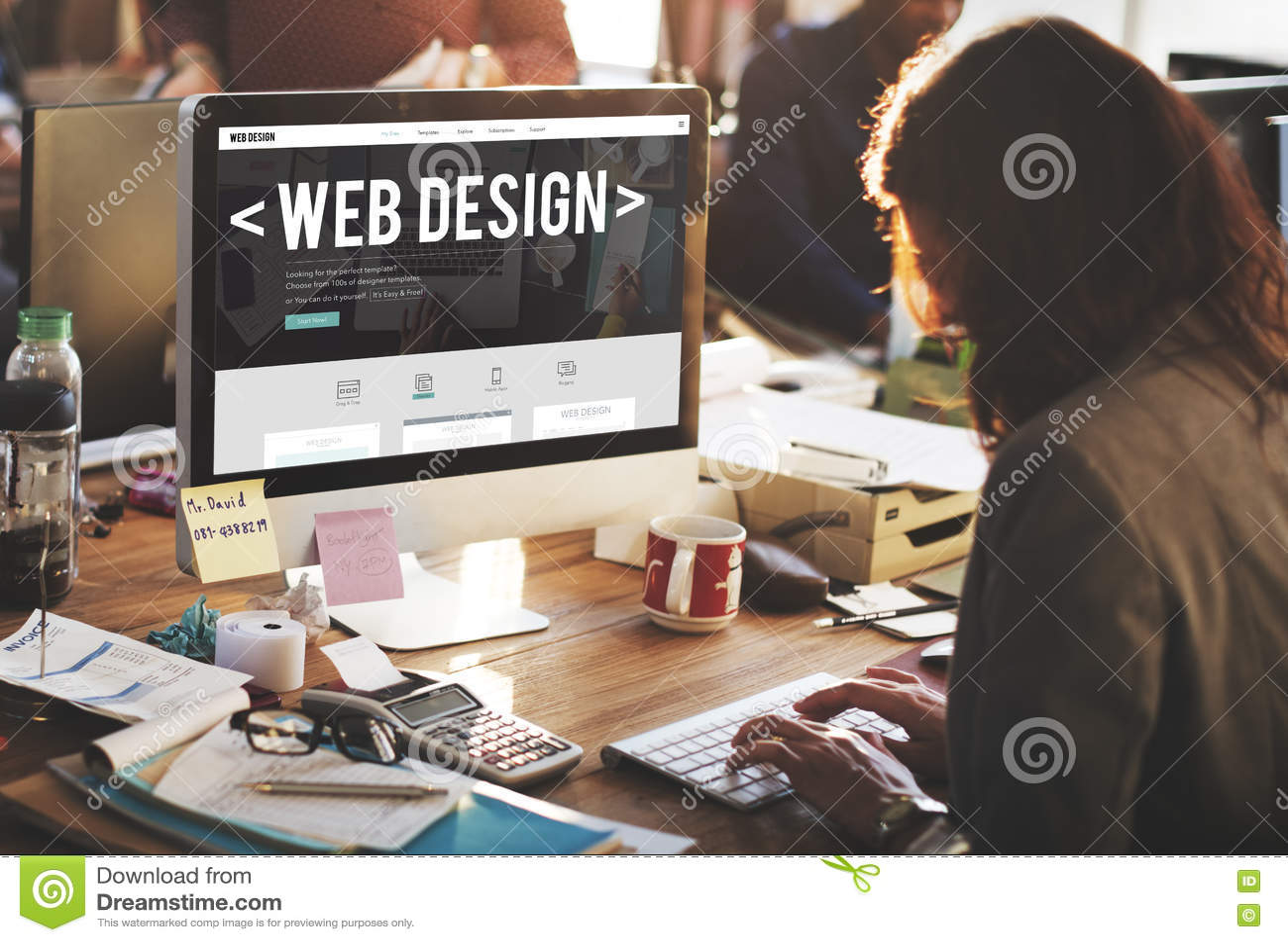 Concetto di software rispondente del sito Web di Internet di web design