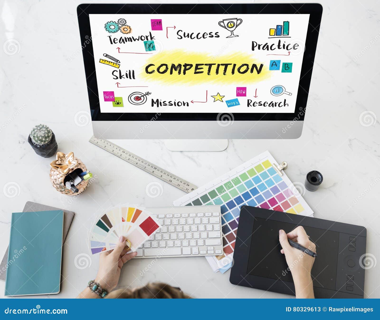 Concetto di sviluppo di successo di scopo di scopo della concorrenza
