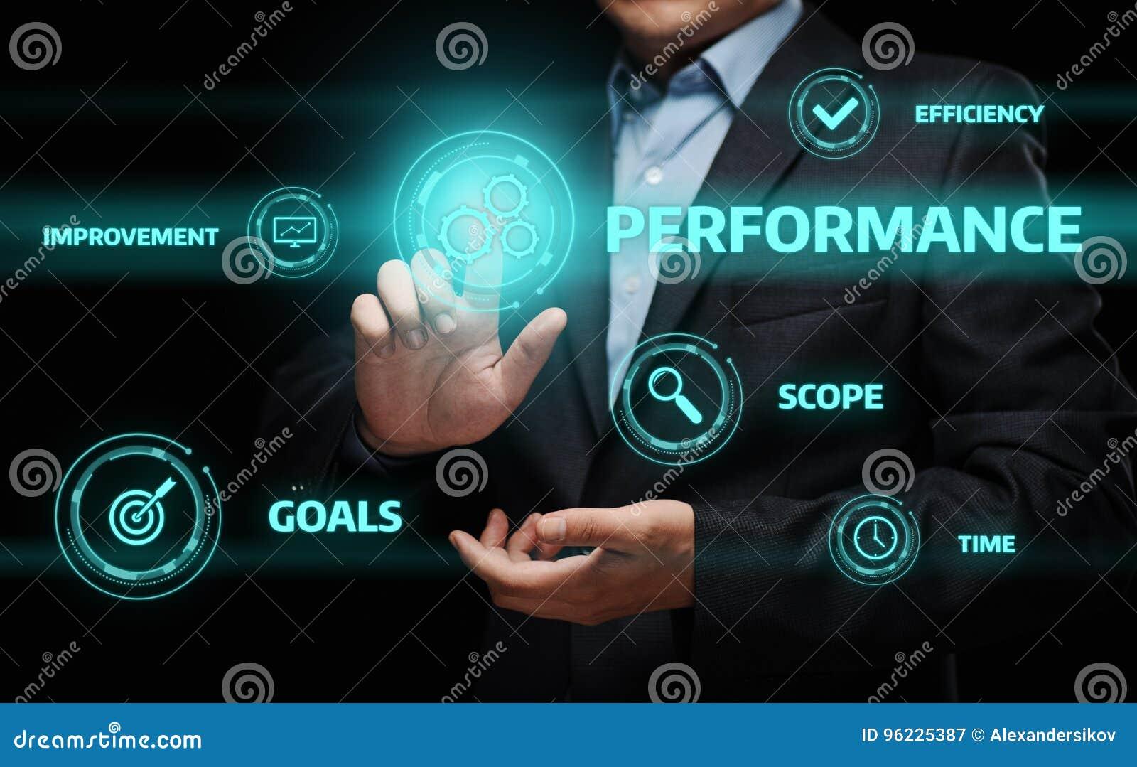 Concetto di tecnologia di affari di miglioramento di efficienza della gestione delle prestazioni
