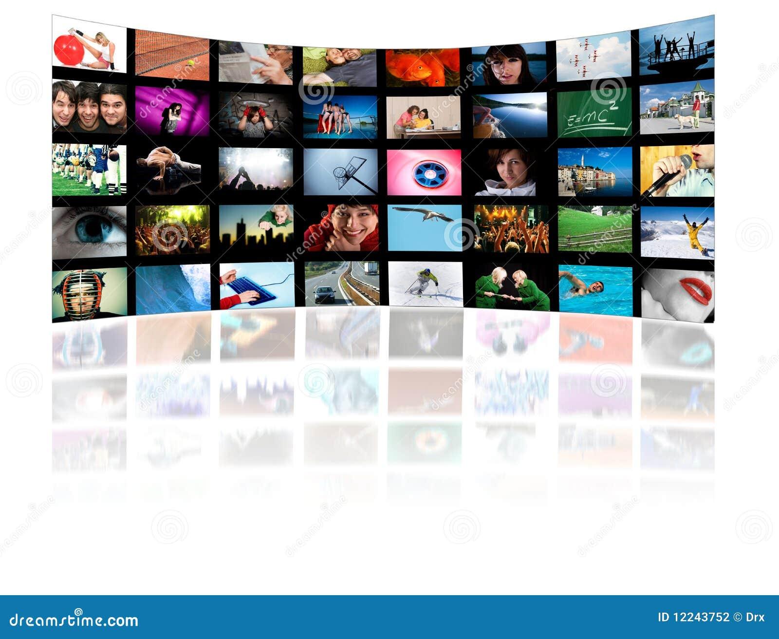 Concetto di tecnologia di produzione di HD TV