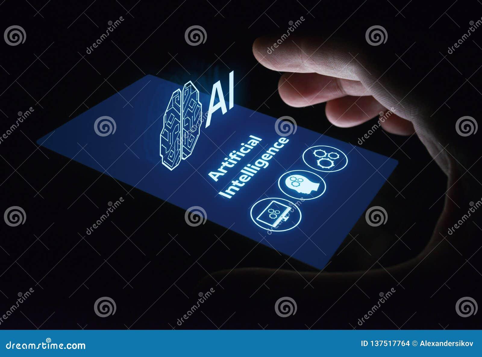 Concetto di tecnologia di Internet di affari di apprendimento automatico di intelligenza artificiale