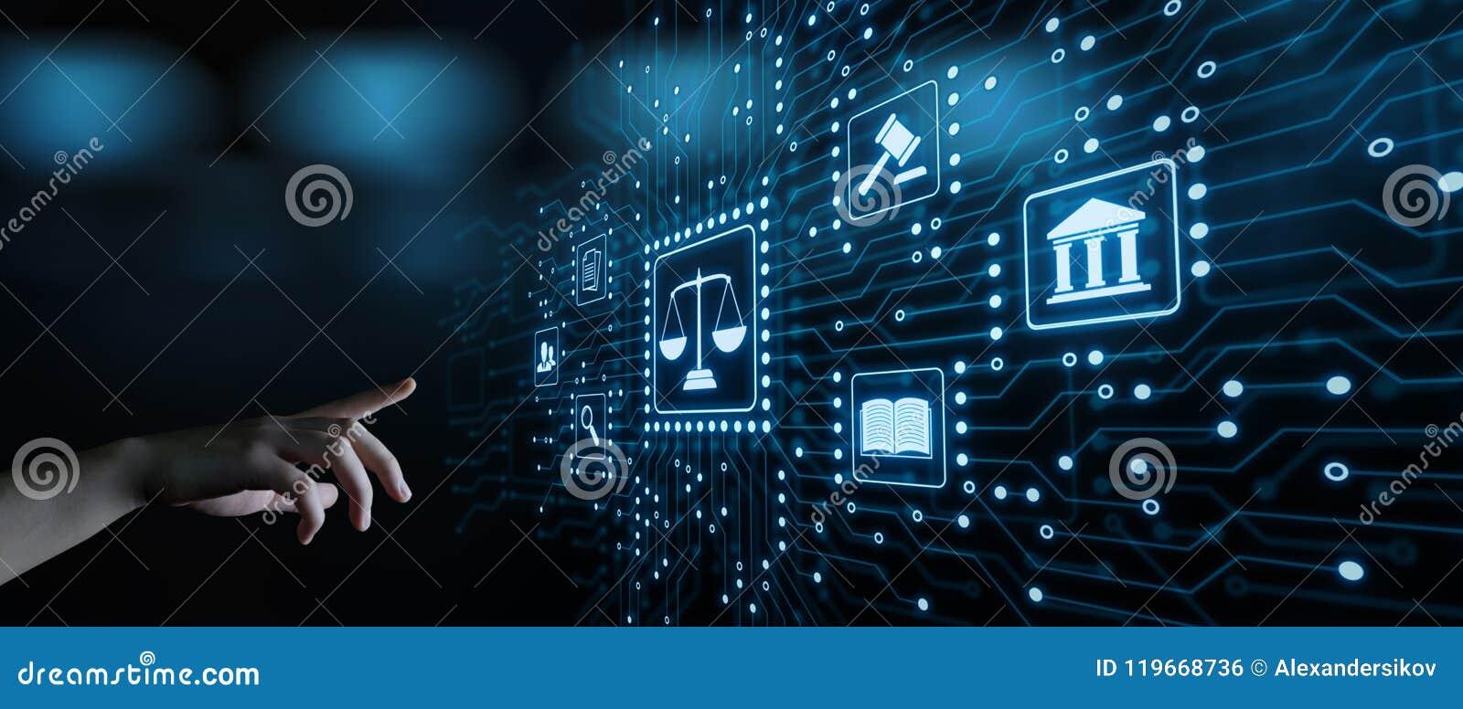 Concetto di tecnologia di Legal Business Internet dell avvocato di diritto del lavoro