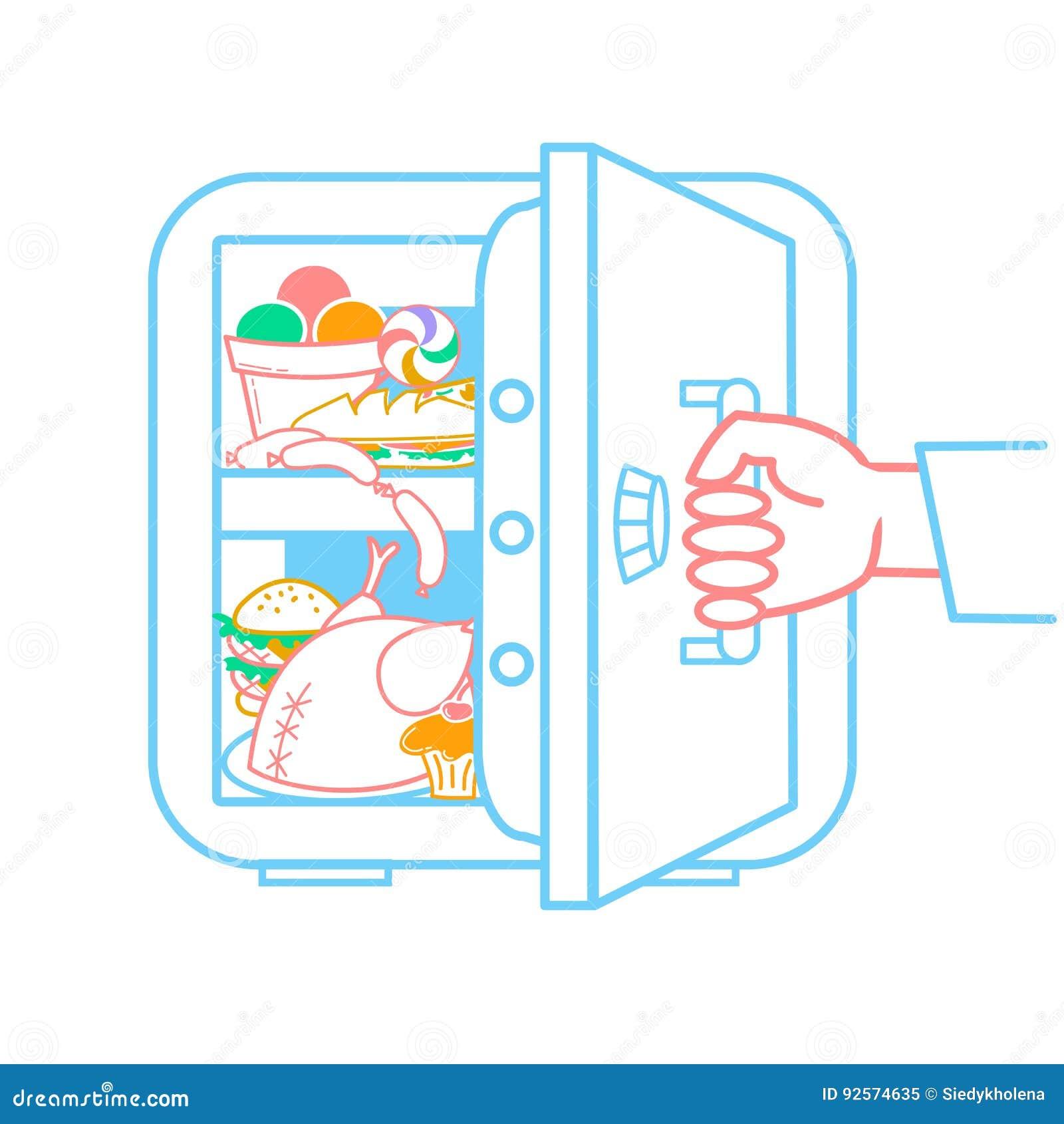 Concetto di un frigorifero di dieta