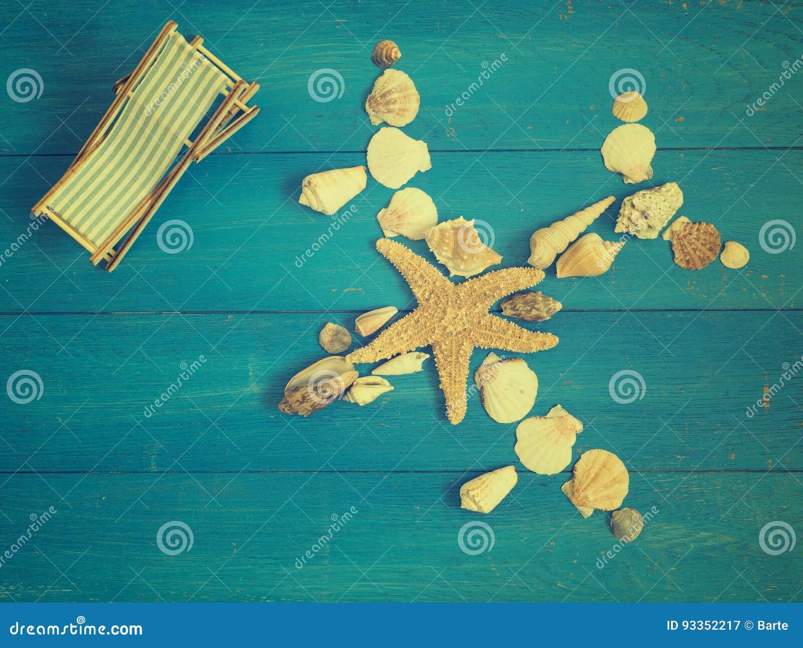 Concetto di vacanza con l aeroplano delle conchiglie immagine