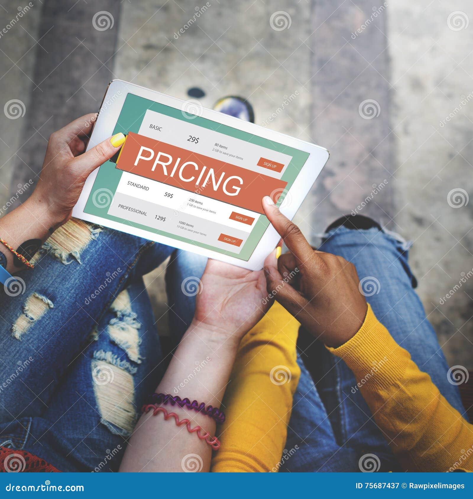 Concetto di valore di promozione di prezzi di prezzo di mercato