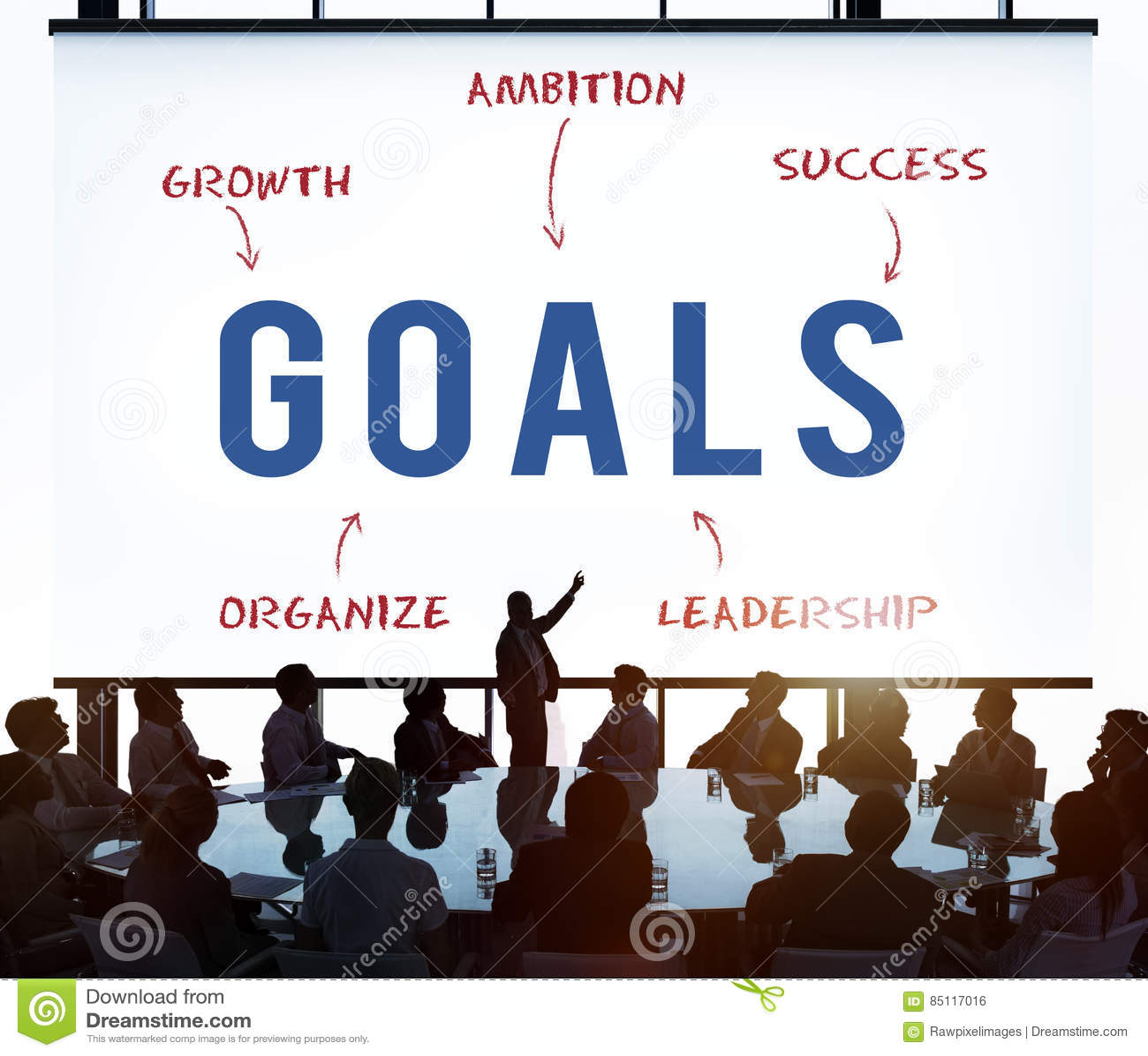 Concetto di vendita di strategia di Goals Business Company
