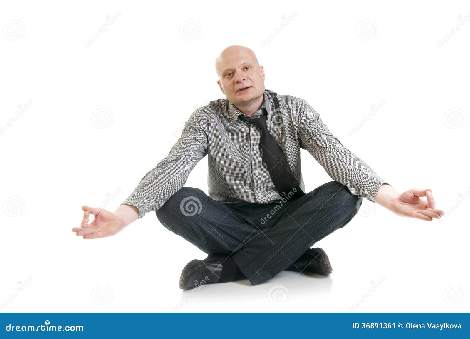 Download Concetto di yoga di affari immagine stock. Immagine di salute - 36891361