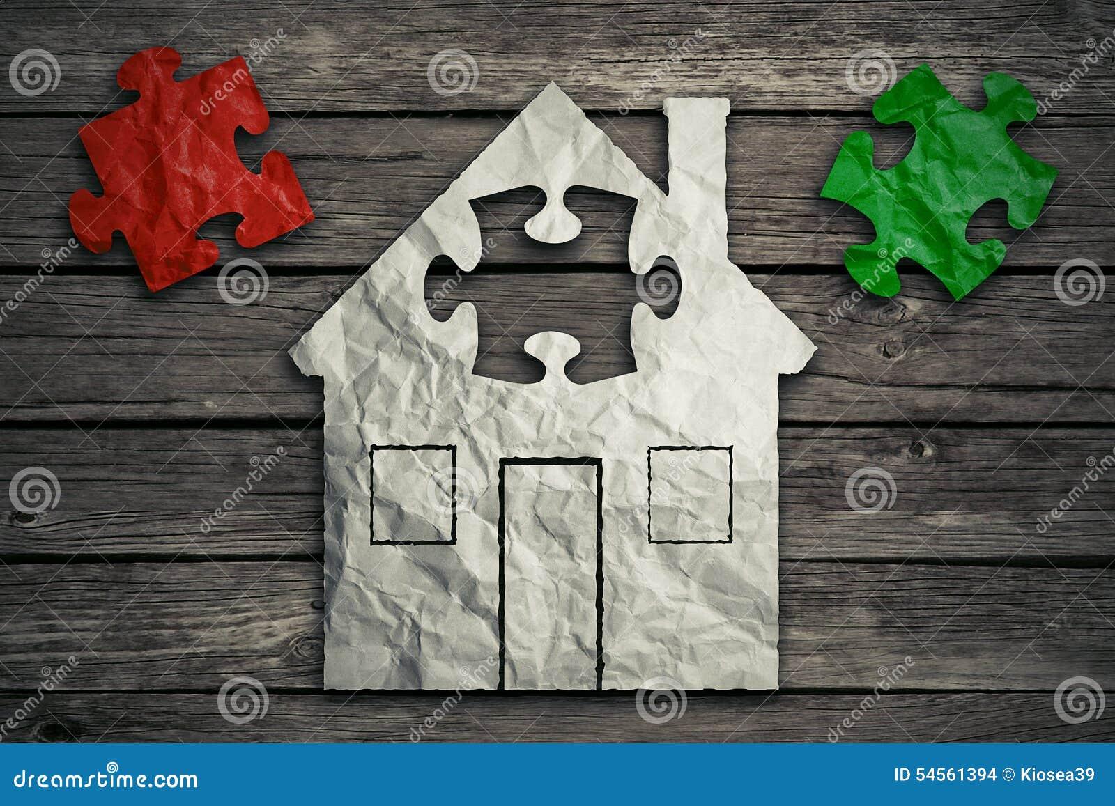 Concetto domestico di riparazione Settore immobiliare di bene immobile
