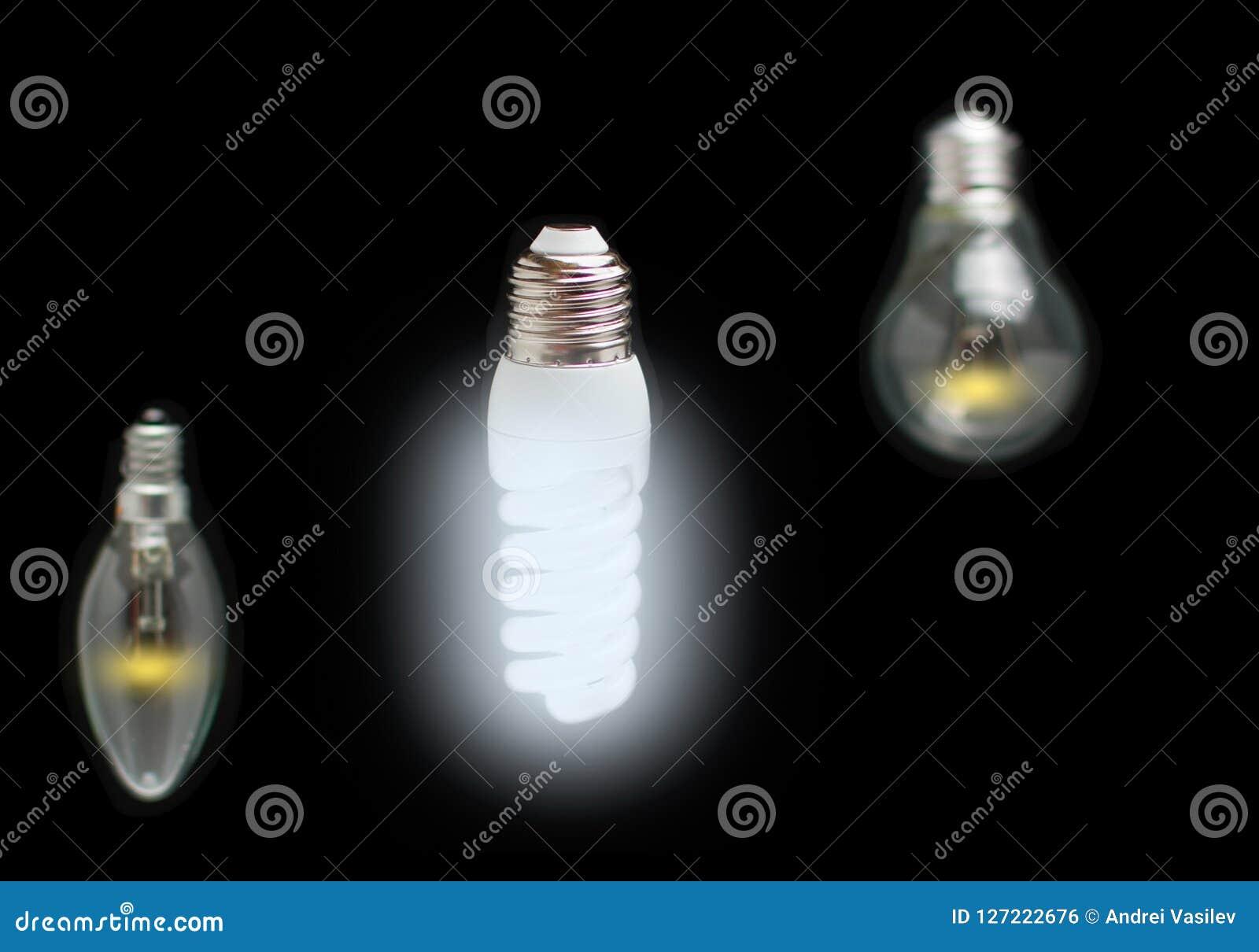 Concetto economizzatore d energia di innovazione delle lampade