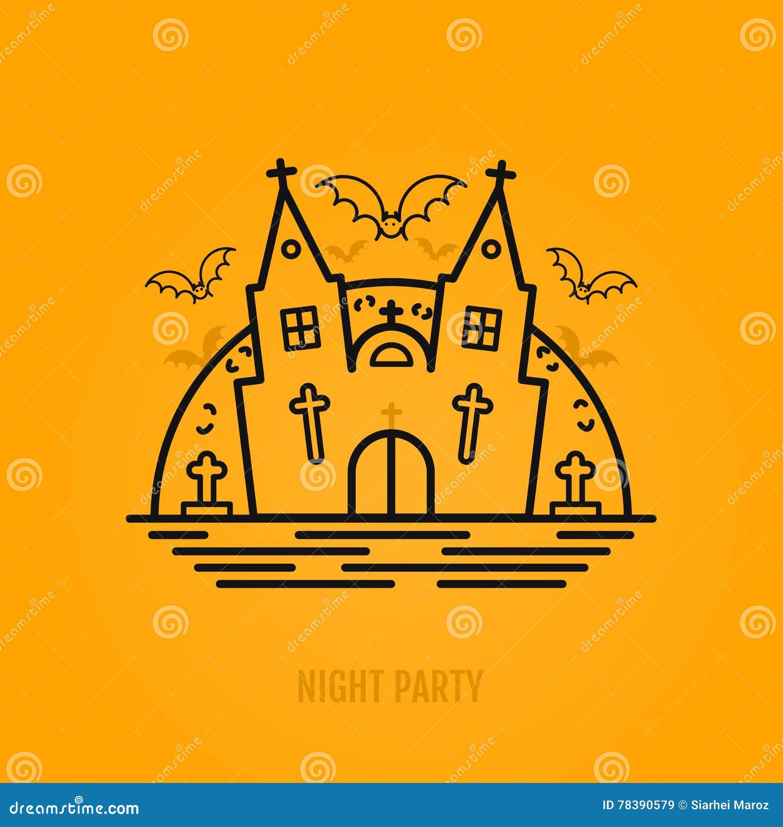 Halloween Chiesa.Concetto Felice Di Halloween Con I Pipistrelli La Luna La Chiesa