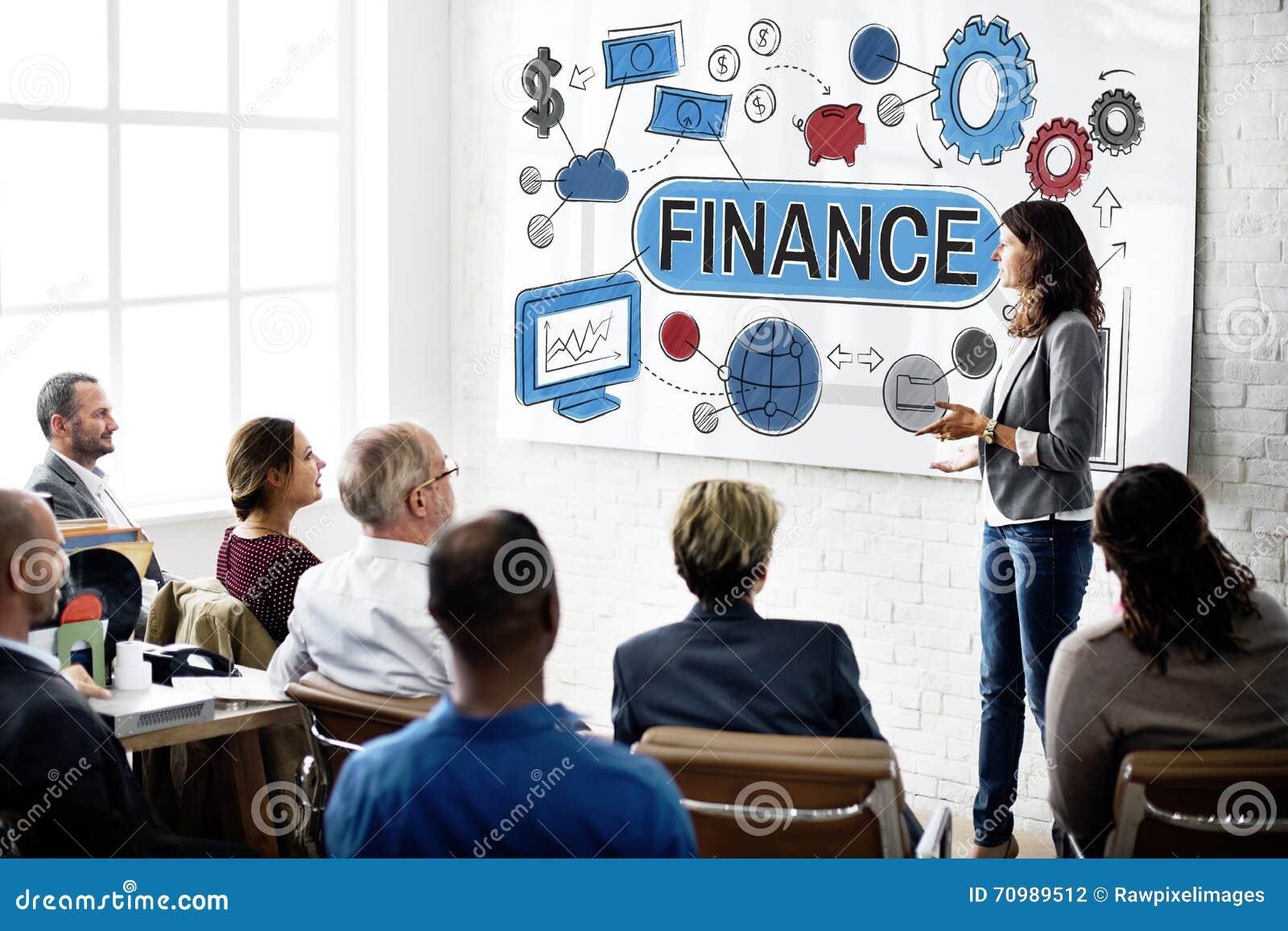 Concetto finanziario di contabilità del bilancio di economia di finanza