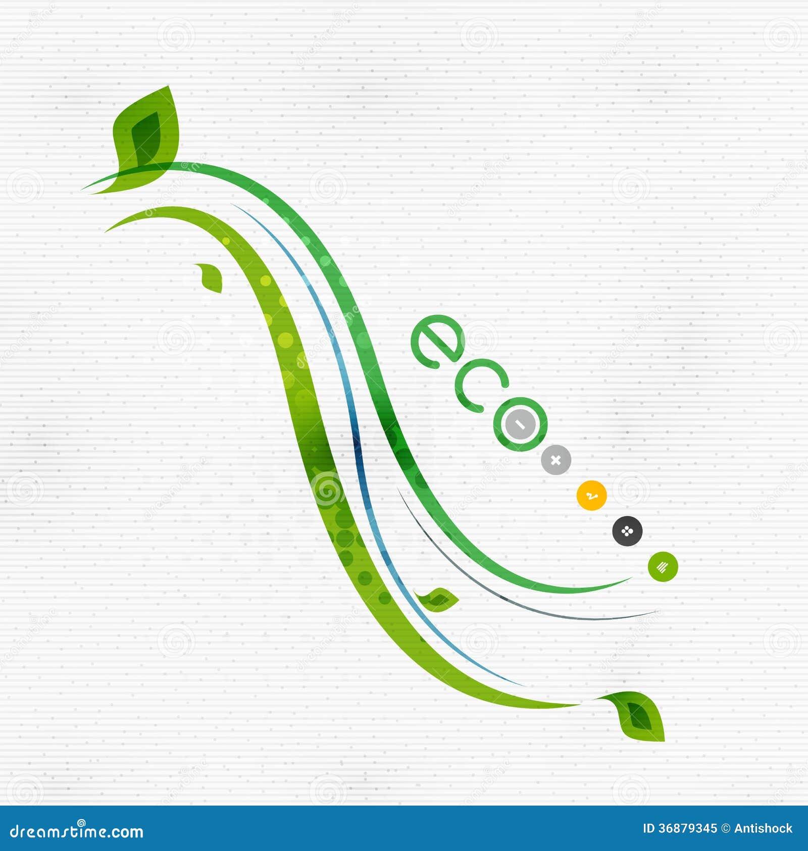 Download Concetto Floreale Minimo Della Natura Verde Di Eco Illustrazione Vettoriale - Illustrazione di background, icona: 36879345