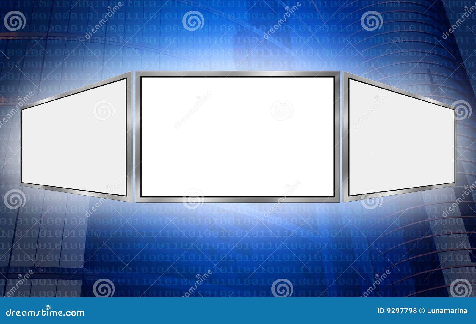 Concetto globale di tecnologia dello spazio della copia di schermo 3d