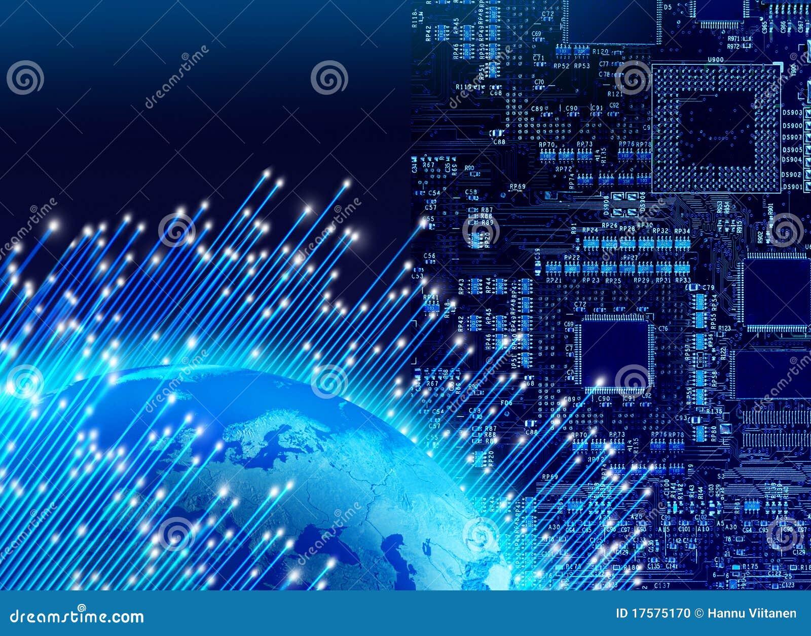 Concetto globale di tecnologia digitale