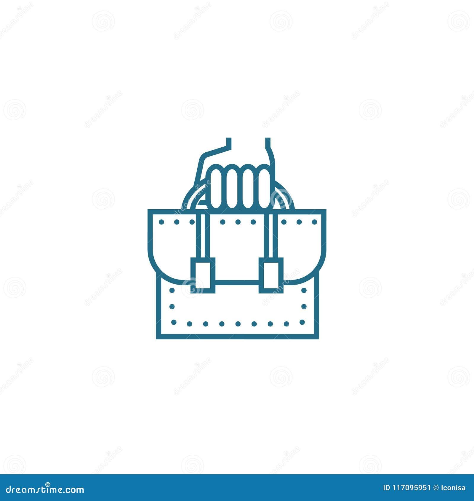 Concetto lineare dell icona degli impiegati di ufficio Linea segno di vettore, simbolo, illustrazione degli impiegati di ufficio
