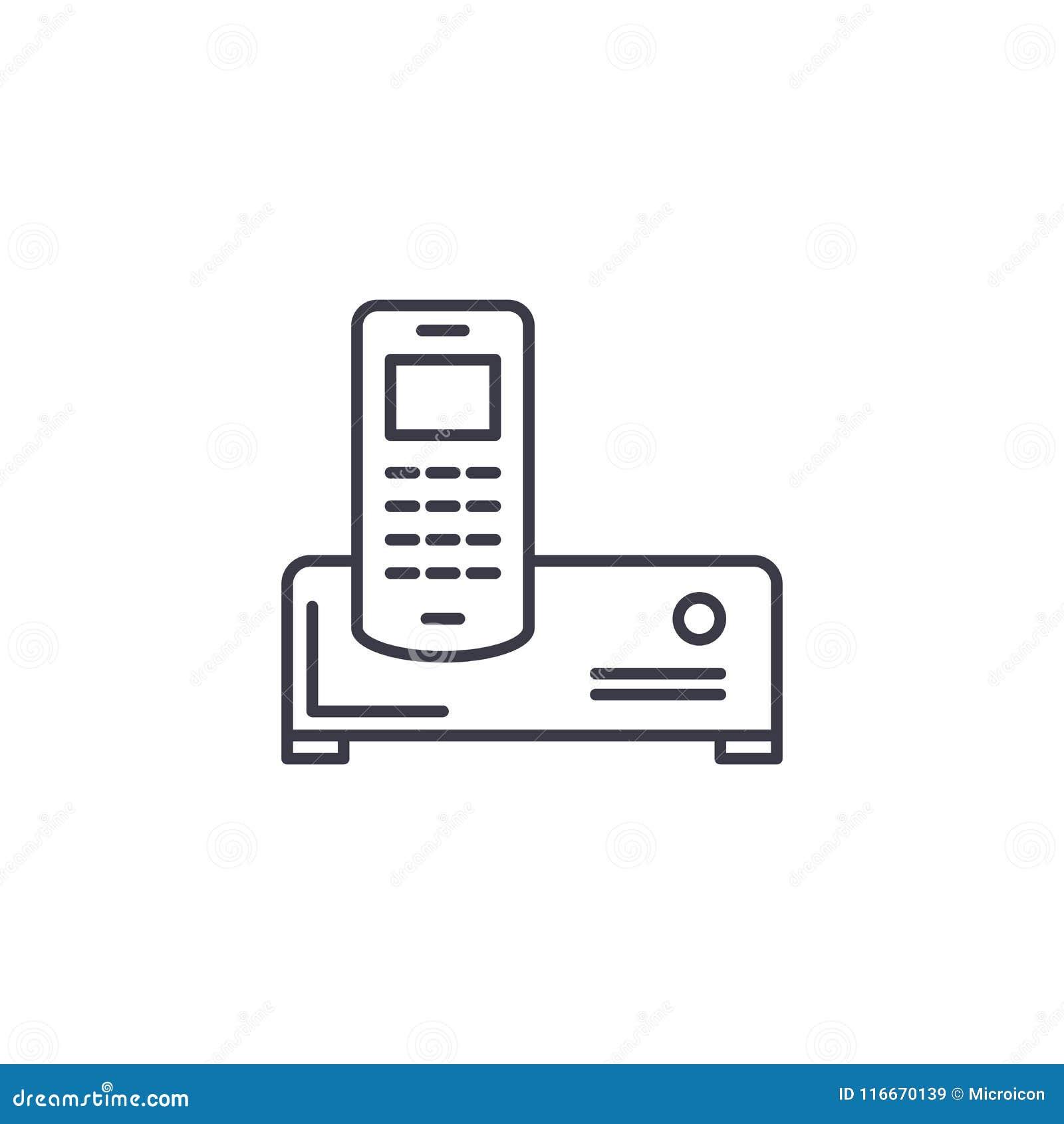 Concetto Lineare Dell Icona Del Condizionatore D Aria Linea