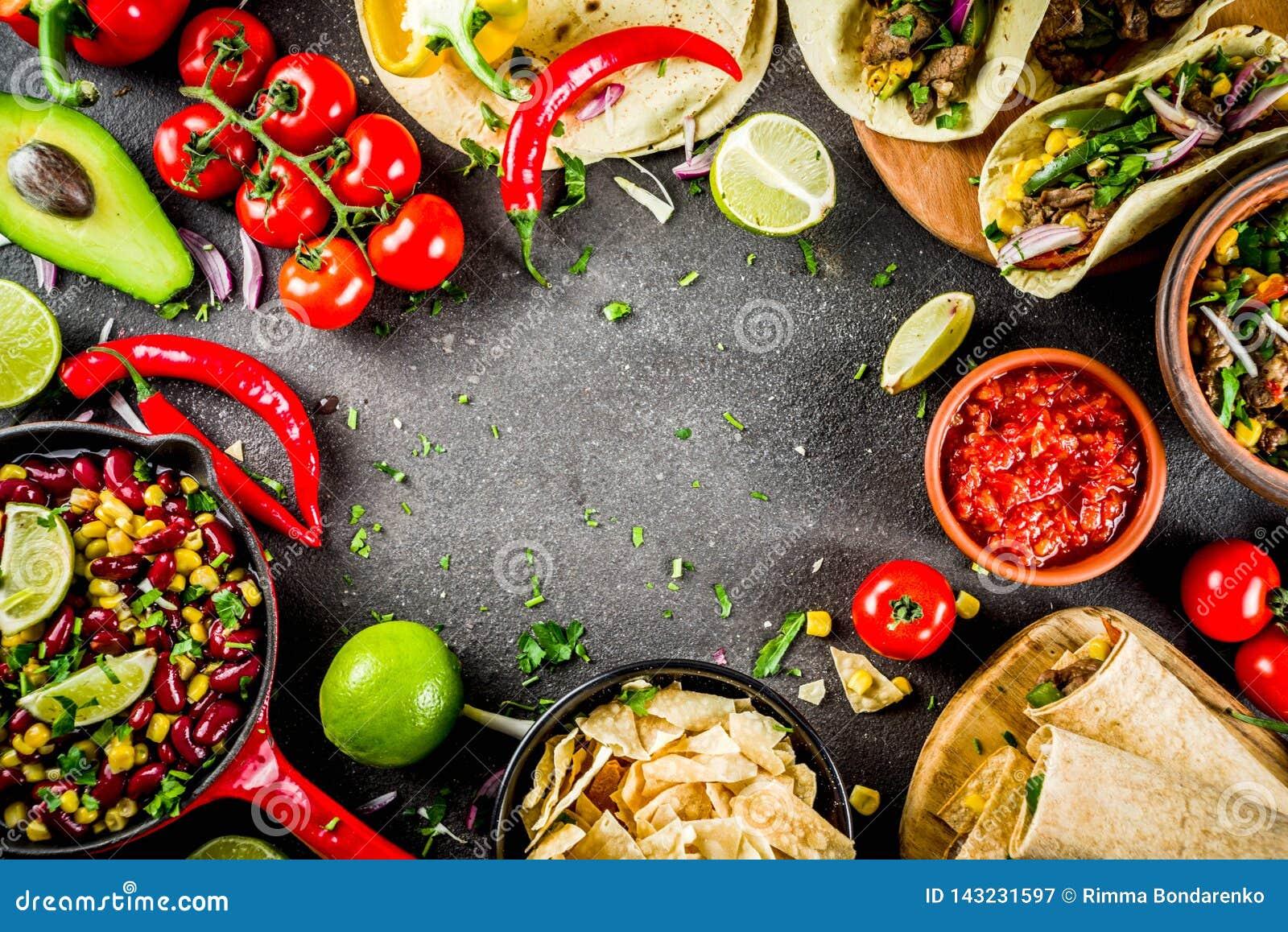 Concetto messicano dell alimento Alimento di Cinco de Mayo