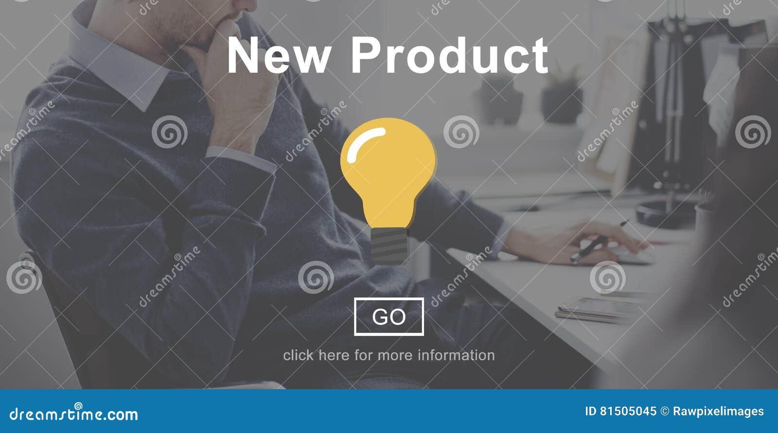 Concetto moderno corrente di sviluppo di nuovo prodotto