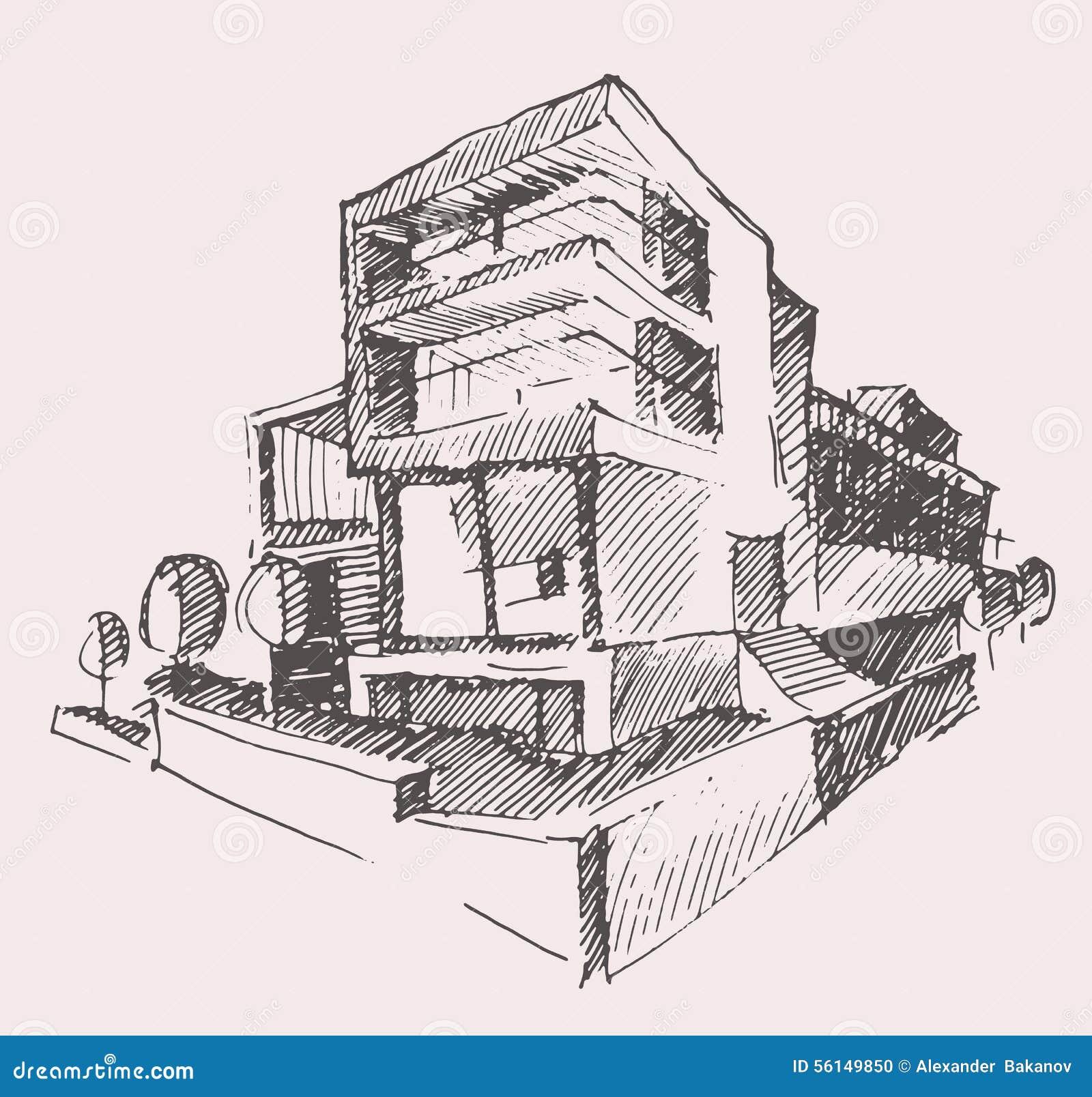 Concetto moderno della costruzione della nuova casa del for Progetto casa moderna nuova costruzione