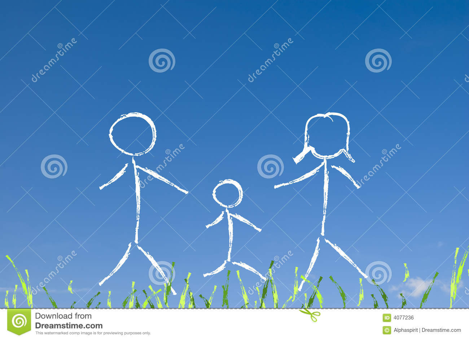 Concetto  nucleo familiare  felice