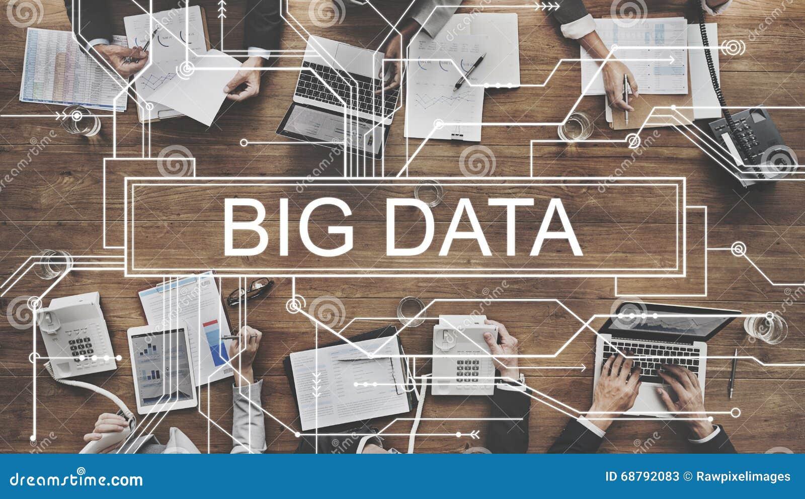 Concetto online del server della grande rete di archiviazione di dati