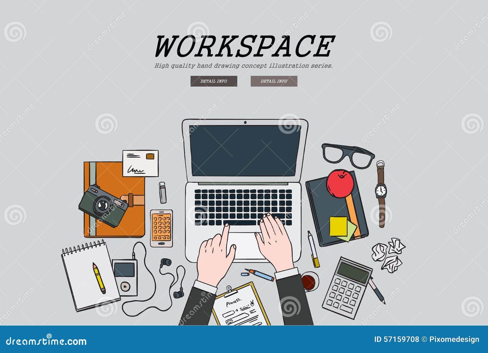 Concetto piano di disegno dell 39 area di lavoro dell for Capannone pianificatore di layout