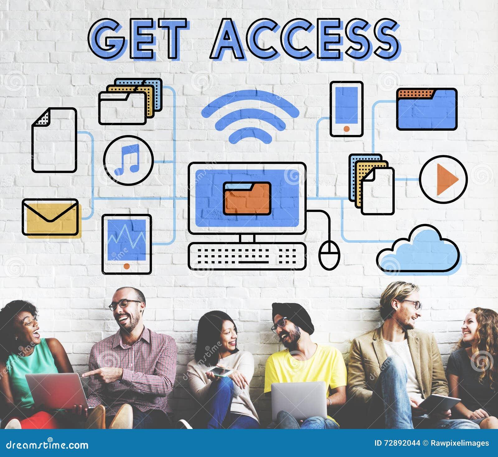 Concetto possibile aperto libero di disponibilità accessibile di Access