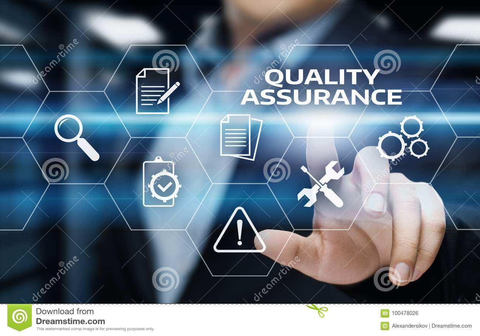 Concetto standard di tecnologia di affari di Internet di garanzia di servizio di assicurazione di qualità