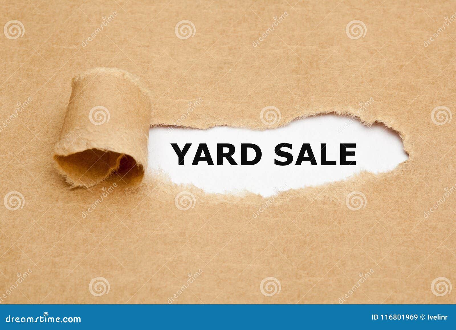 Concetto strappato vendita di oggetti usati della carta di Brown