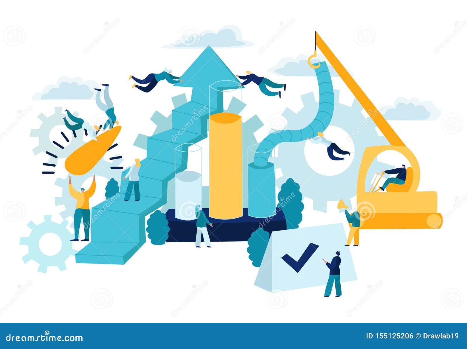Concetto, valutazione, ottimizzazione, strategia, lista di controllo e misura di KPI Affare di Indicatorsusing di prestazione chi