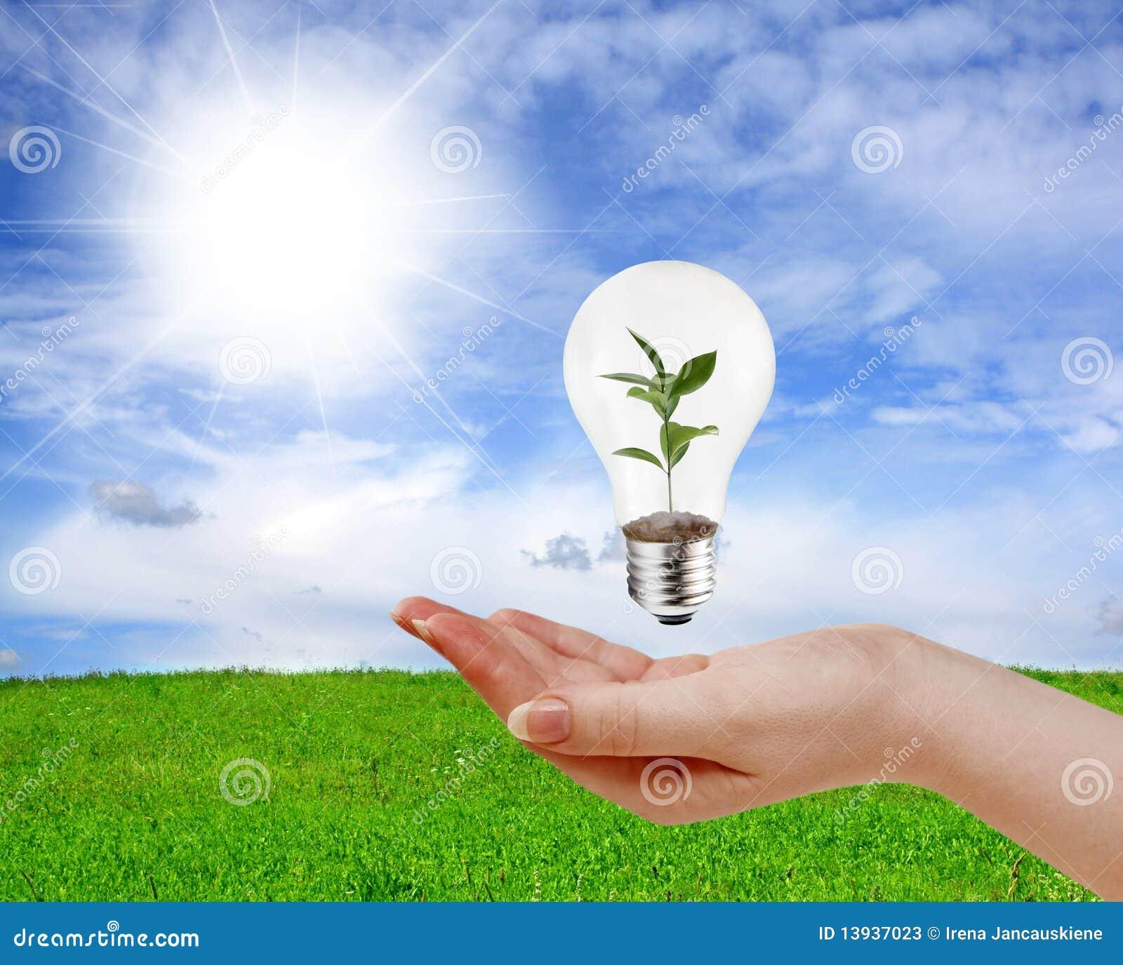 Concetto verde di energia