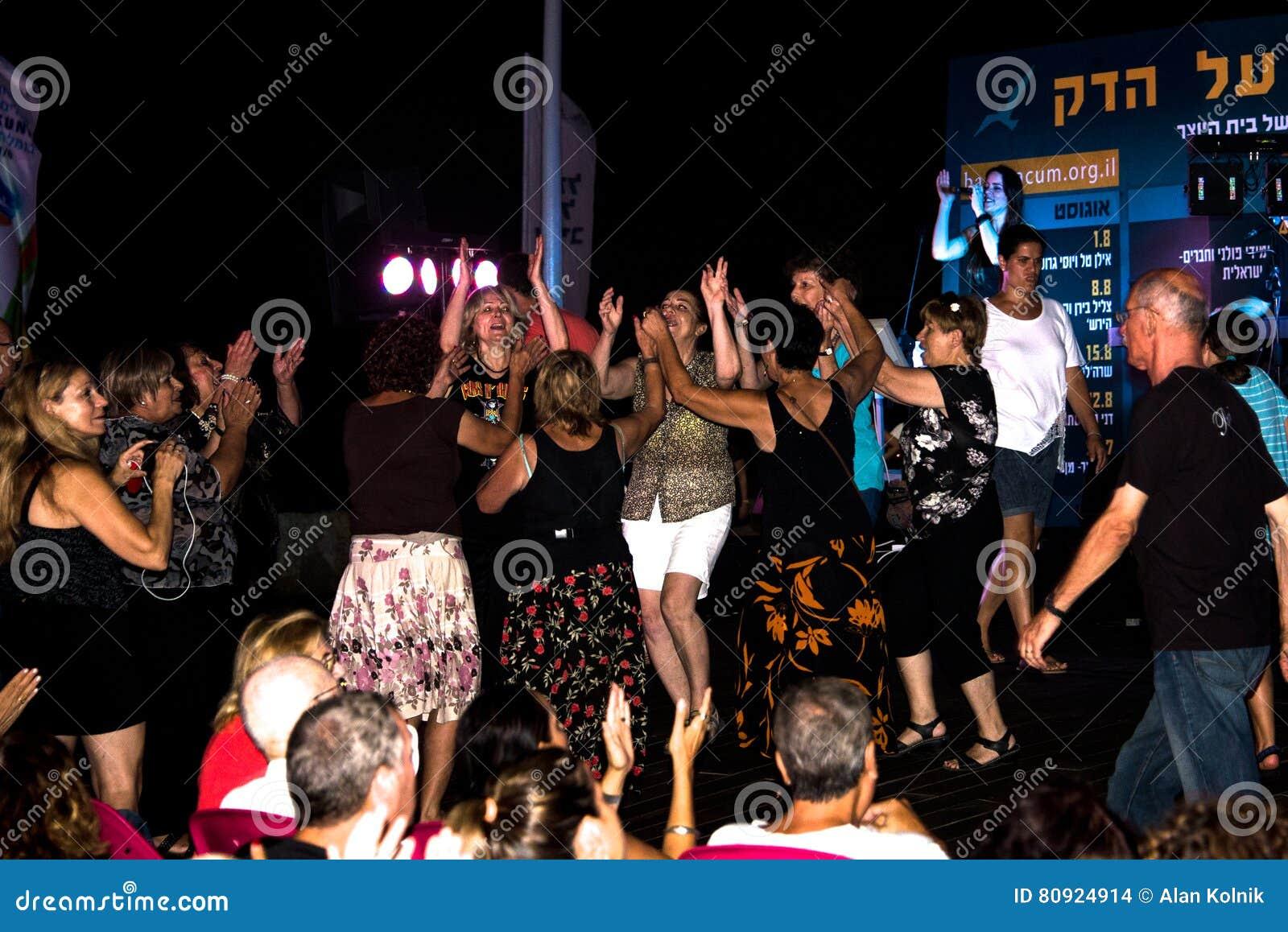 Concierto en el teléfono Aviv Boardwalk