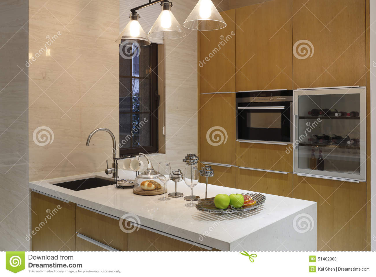 Concise And Lively Multi-functional Kitchen Stock Photo - Image of ...