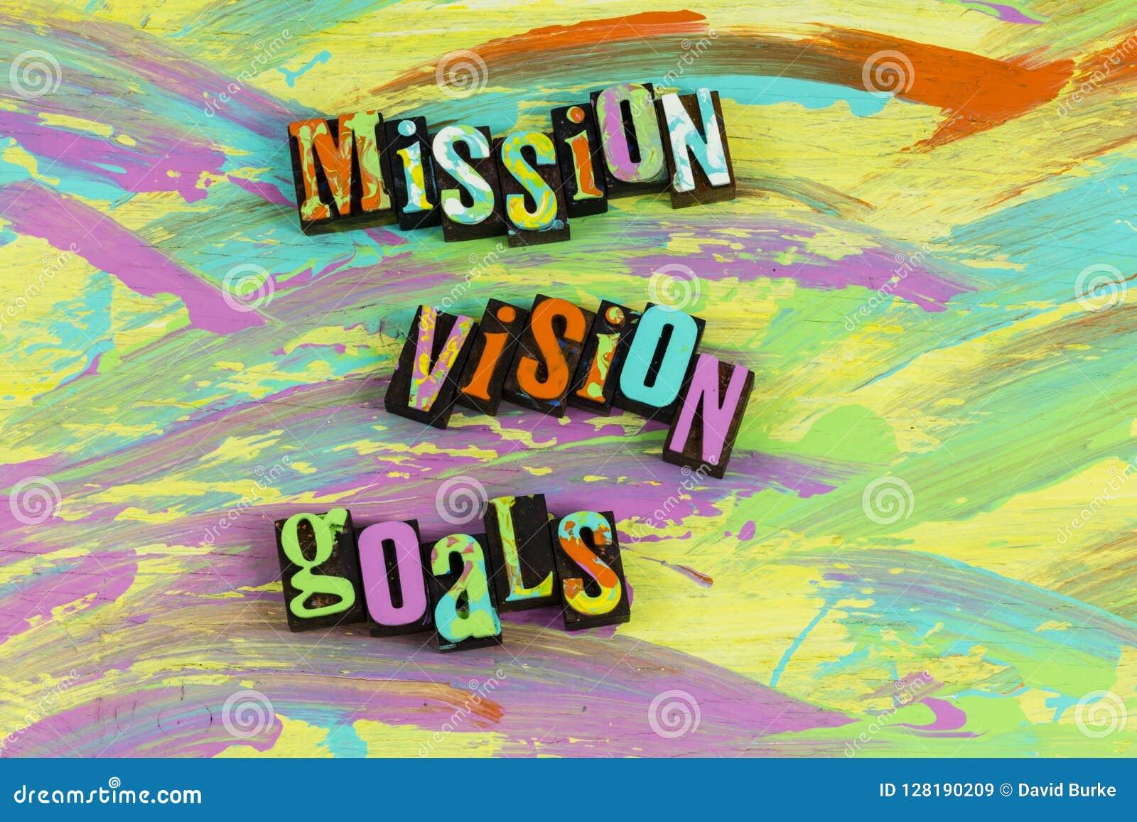 Conclusão dos objetivos da visão da missão bem sucedida