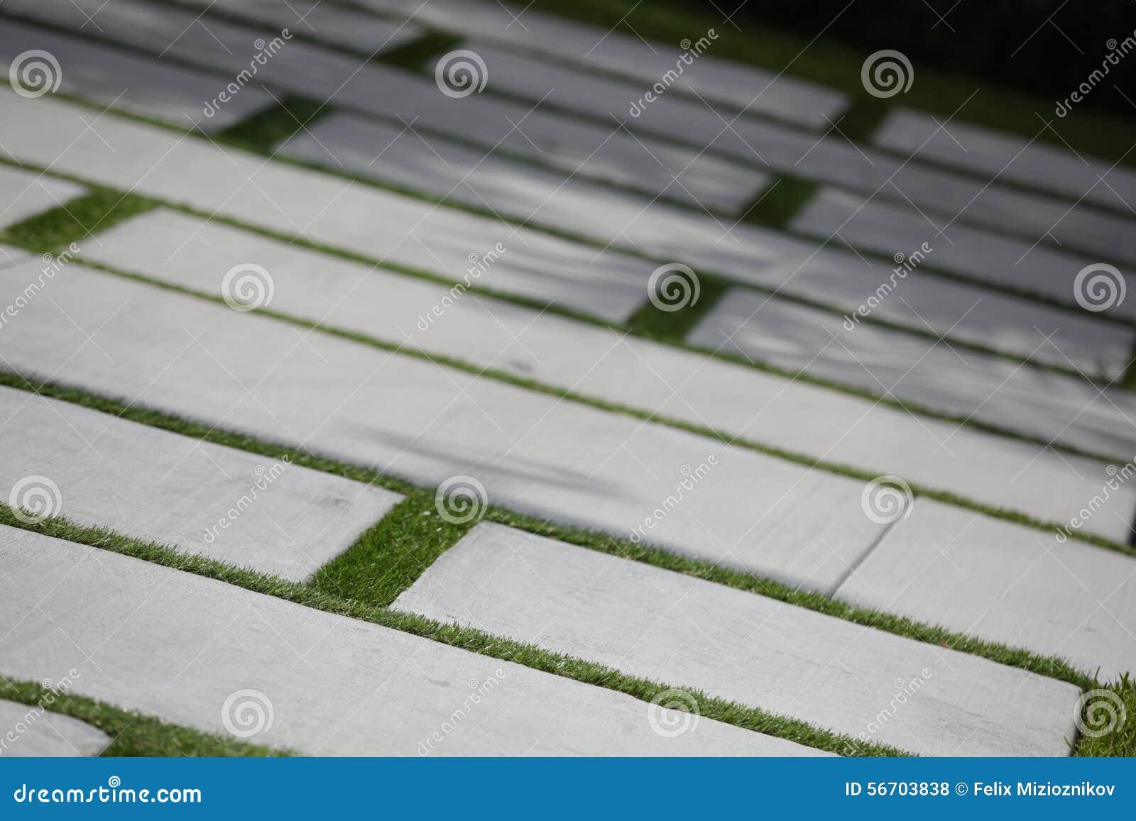 Concrete Block Driveway Stock Photo Image 56703838