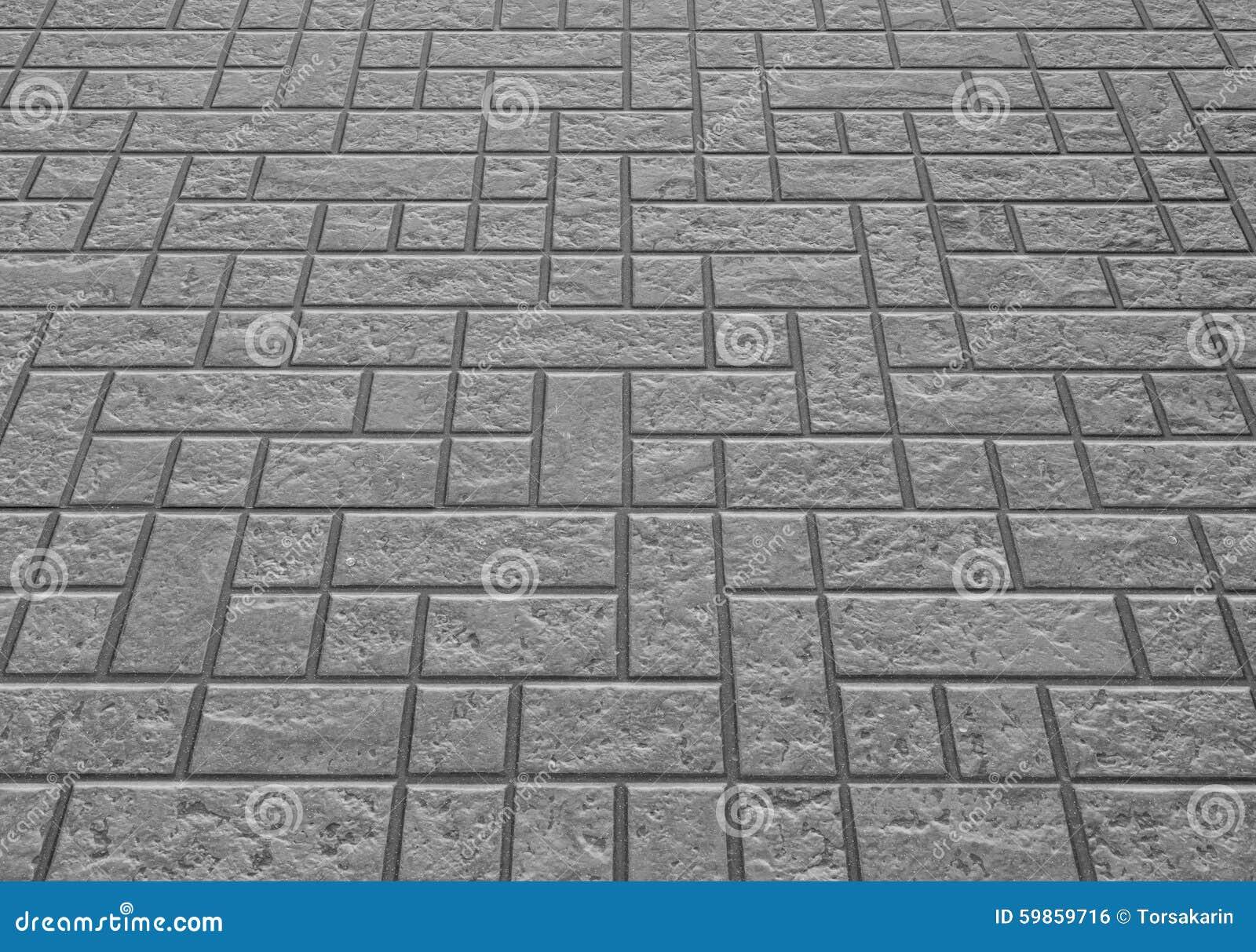 Concrete Block Floor Background And Texture Stock