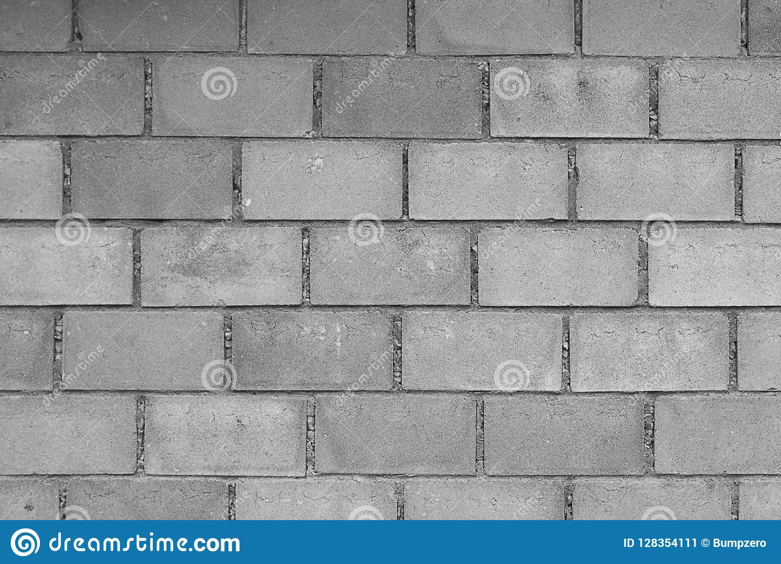 Concrete block wall background black and white