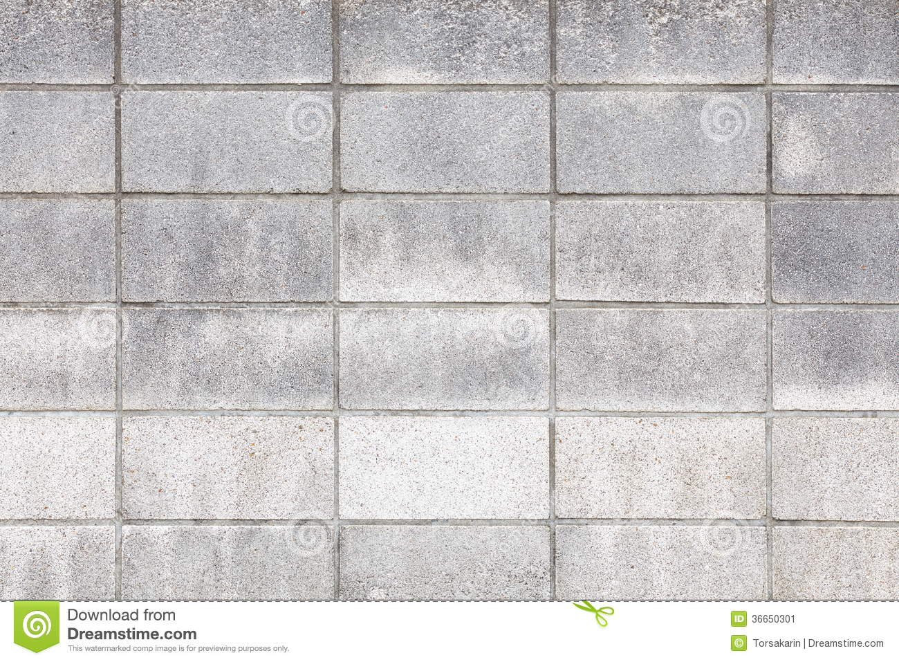 Concrete Block Wall Background Stock Image Image Of