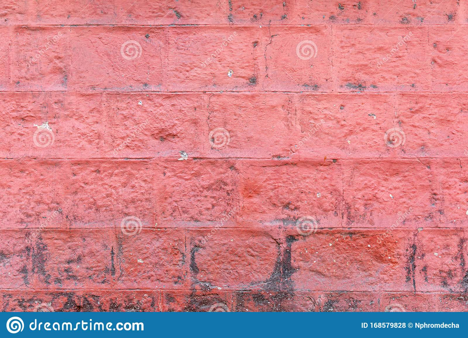 Concrete Block Wall Painted Red Color Of Background And Texture Stock Photo Image Of Concrete Brown 168579828